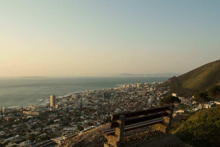 View down onto Sea Point